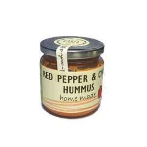 red pepper and chilli hummus