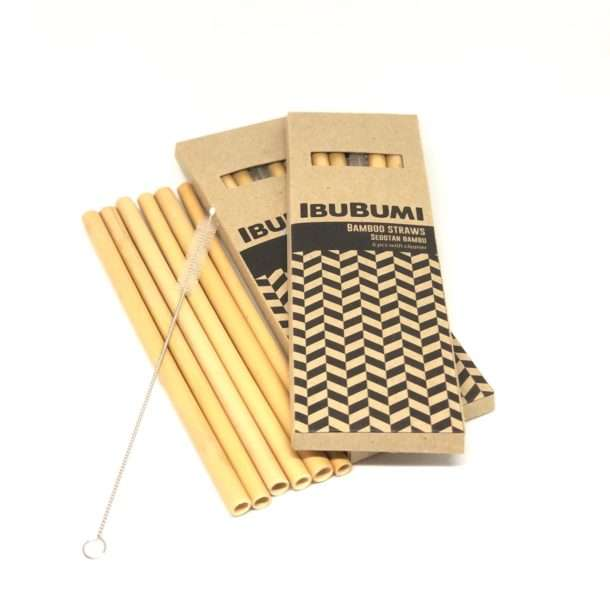 Bamboo Straws 6 Pieces