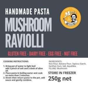 Gluten Free Mushroom Ravioli
