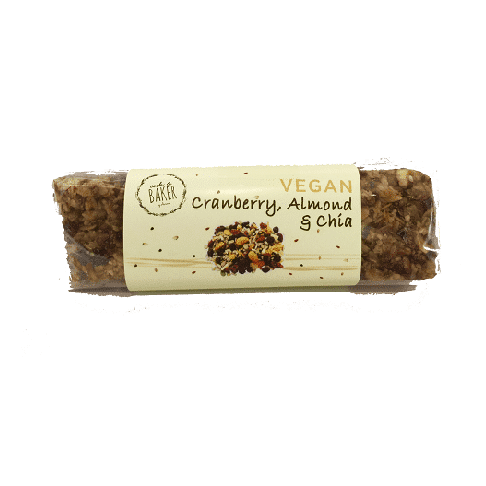 Vegan Cranberry Almond Chia Bar