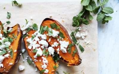 Baked Sweet Potatoes with Tvorog